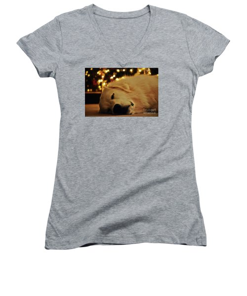 Waiting For Santa Women's V-Neck (Athletic Fit)
