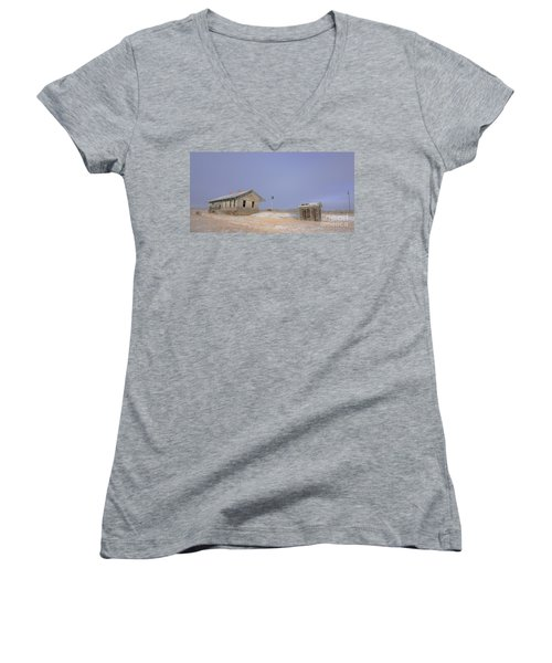 Waiting For The Train To Come Women's V-Neck