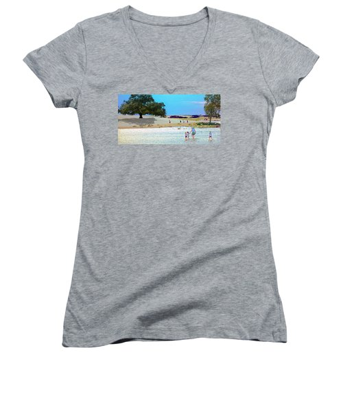 Waiting In The Water Women's V-Neck T-Shirt