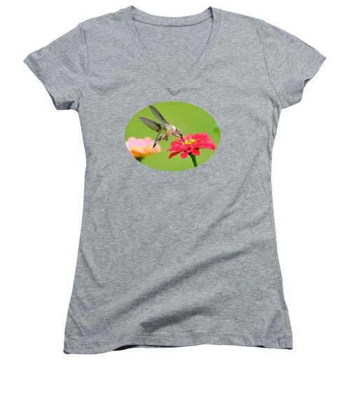 Waiting In The Wings Women's V-Neck T-Shirt (Junior Cut) by Christina Rollo