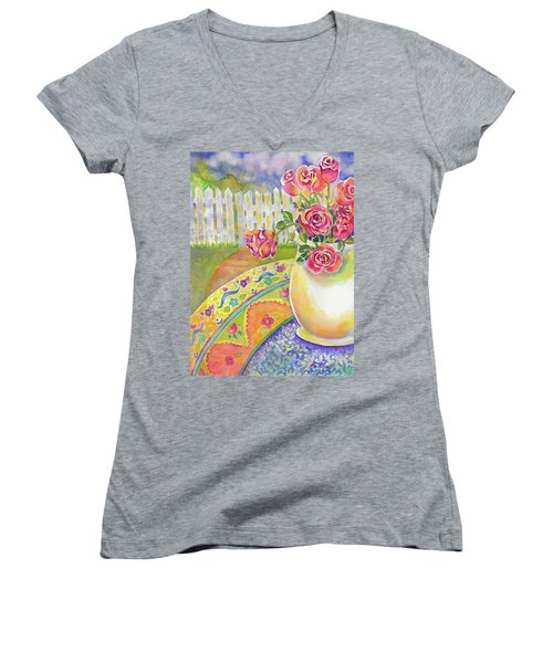 Waiting On A Friend Women's V-Neck