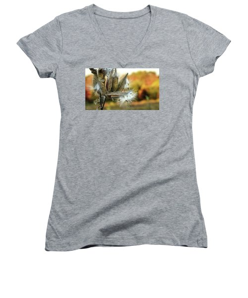 Women's V-Neck featuring the photograph Waiting On The Wind by Andrea Platt