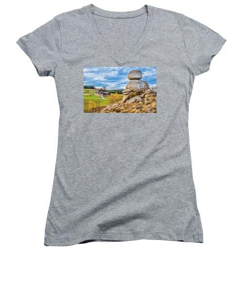 Waldviertel Women's V-Neck T-Shirt (Junior Cut) by JR Photography