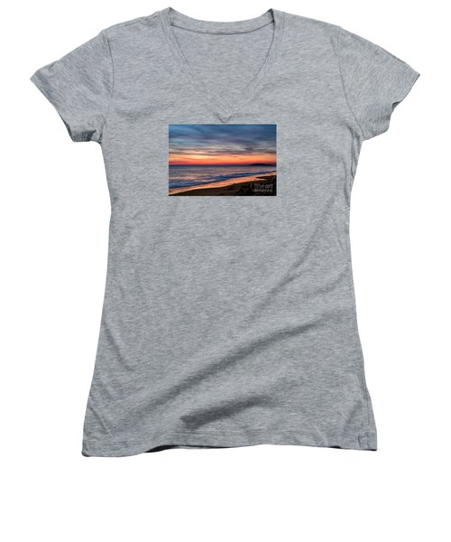 Wales Gower Coast Dusk Women's V-Neck (Athletic Fit)