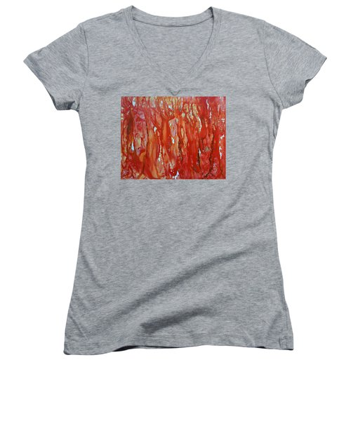Walk In The Wood Women's V-Neck T-Shirt