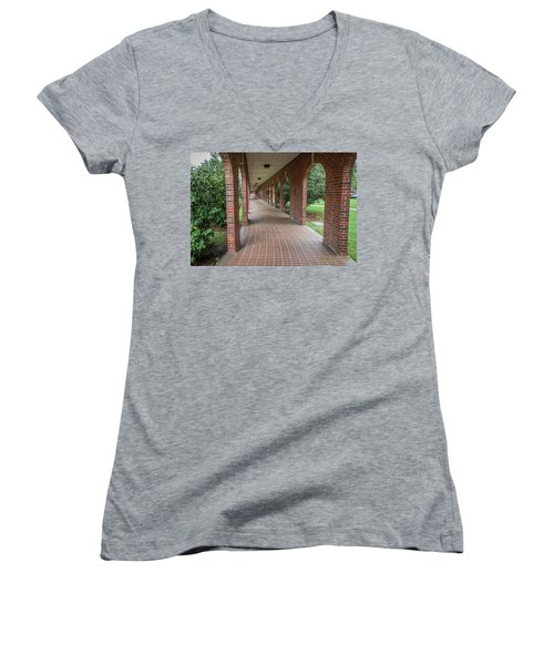 Women's V-Neck T-Shirt (Junior Cut) featuring the photograph Walk Of Honor 6 by Gregory Daley  PPSA