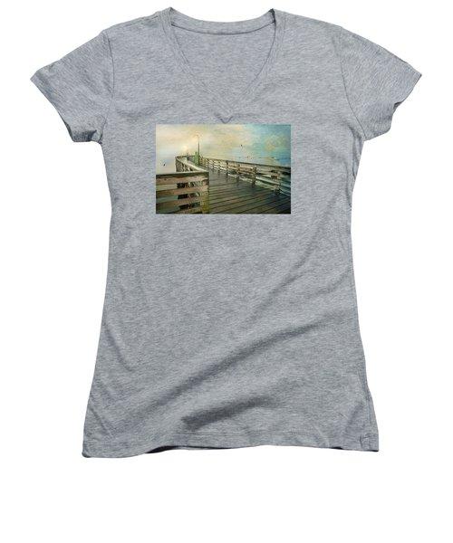 Walk On By Women's V-Neck T-Shirt