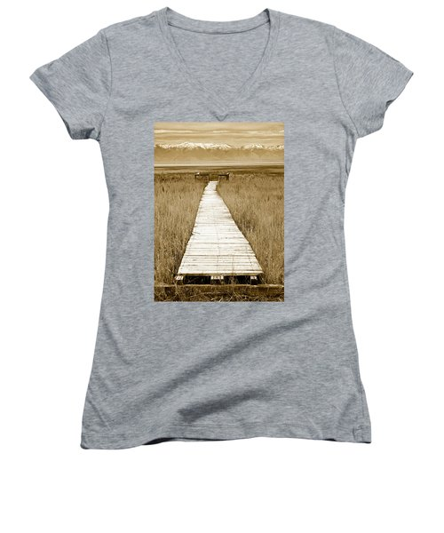 Walk With Me 1 Women's V-Neck