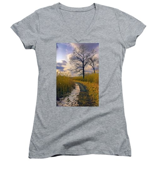 Walk With Me Women's V-Neck