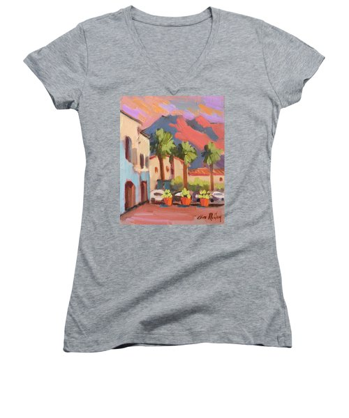 Walking Area In Old Town La Quinta Women's V-Neck