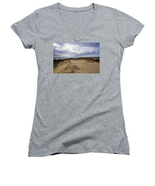 Walking Dunes Montauk Women's V-Neck (Athletic Fit)