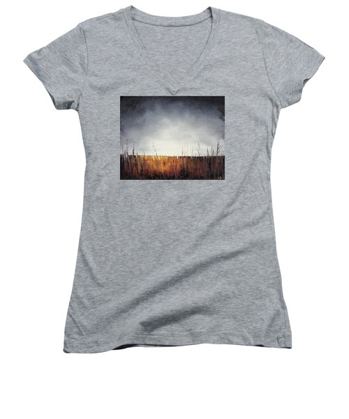 Walking, I Am Listening To A Deeper Way Women's V-Neck (Athletic Fit)