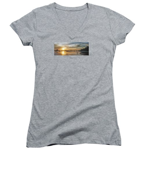 Walking In The Sun Women's V-Neck T-Shirt