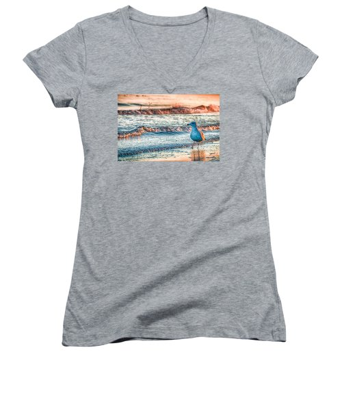 Walking On Sunshine Women's V-Neck T-Shirt
