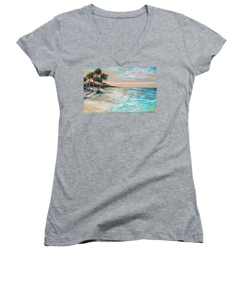 Walking The Dog II Women's V-Neck T-Shirt
