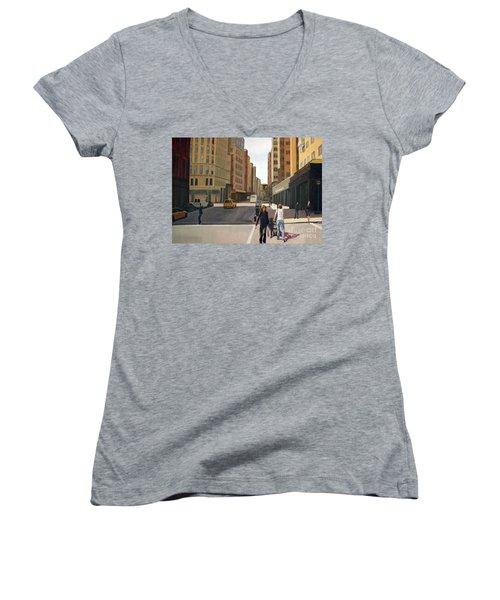 Walking The Lines Women's V-Neck (Athletic Fit)