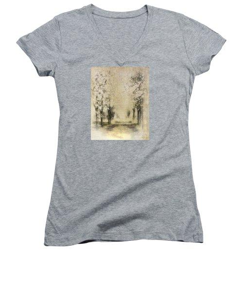 Walking Through A Dream IIi Women's V-Neck T-Shirt (Junior Cut) by Dan Carmichael