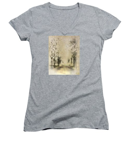 Walking Through A Dream IIi Women's V-Neck T-Shirt (Junior Cut)
