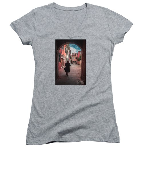 Walking Through Time - Venice, Italy Women's V-Neck (Athletic Fit)