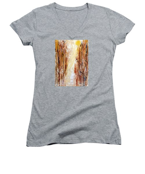 Path To The Creek Women's V-Neck T-Shirt