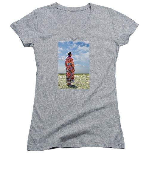 Walks In Beauty Women's V-Neck T-Shirt