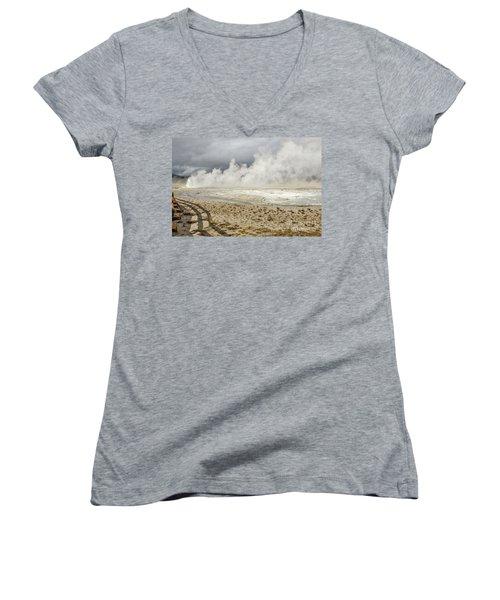 Wall Of Steam Women's V-Neck T-Shirt