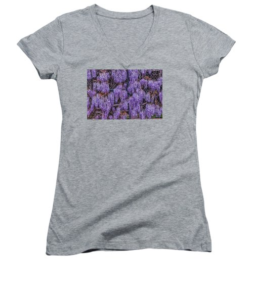 Wall Of Wisteria Women's V-Neck (Athletic Fit)
