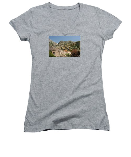Walls Of Kotor Women's V-Neck T-Shirt