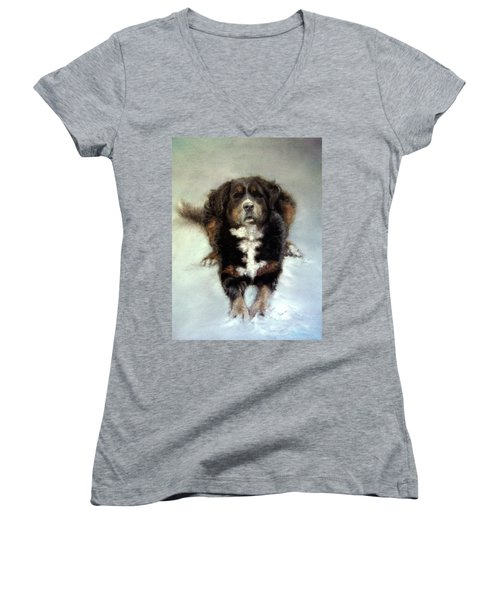 Wanna Play? Women's V-Neck (Athletic Fit)