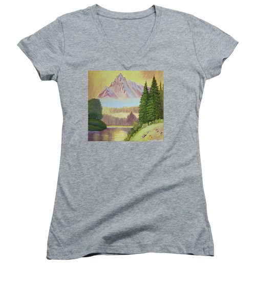 Warm Mountain Women's V-Neck