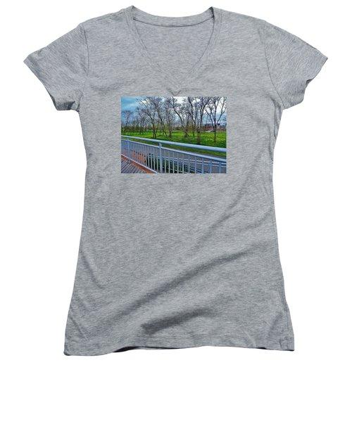 Warm Rainforest  Women's V-Neck T-Shirt