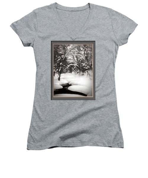 Warmth Of A Winter Day Women's V-Neck