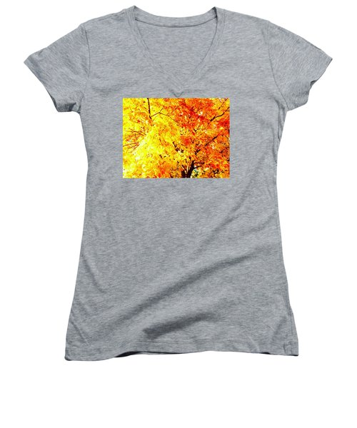 Warmth Of Fall Women's V-Neck