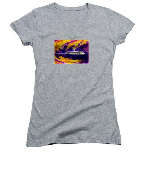 Warp 7 Women's V-Neck T-Shirt (Junior Cut) by J Griff Griffin