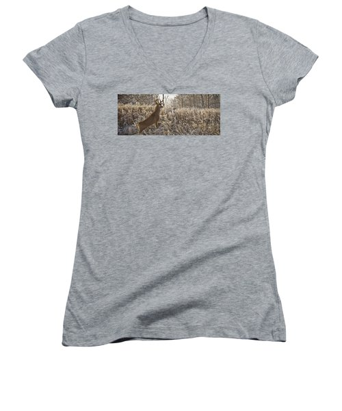 Wary Buck Women's V-Neck (Athletic Fit)