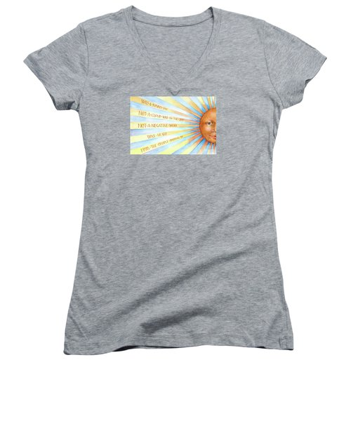 Was A Sunny Day Women's V-Neck T-Shirt