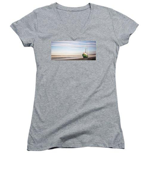 Washed Ashore Women's V-Neck T-Shirt (Junior Cut) by Jon Glaser