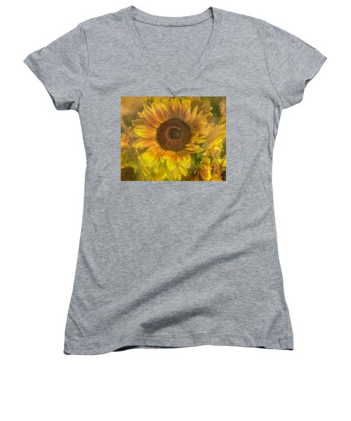 Washed In Sun Women's V-Neck