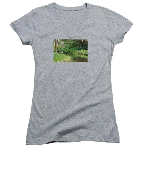 Washington Oaks Pond Women's V-Neck T-Shirt