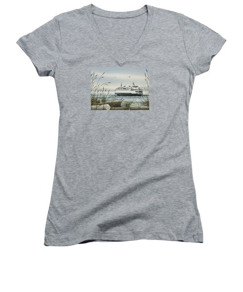 Washington State Ferry Women's V-Neck (Athletic Fit)