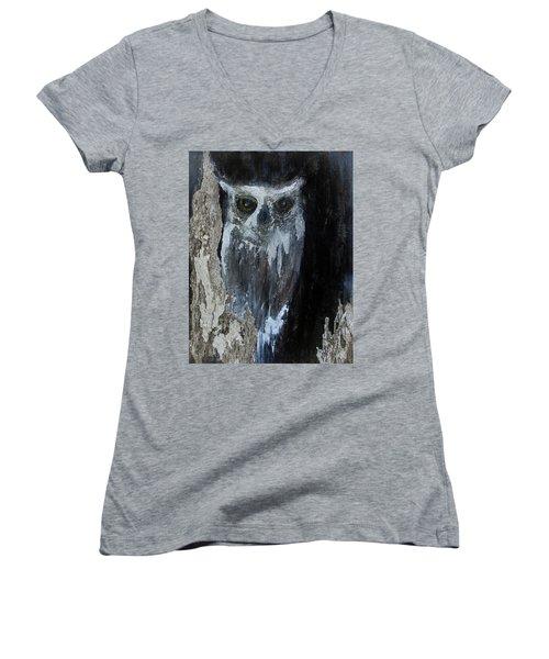 Watcher Of The Woods Women's V-Neck T-Shirt