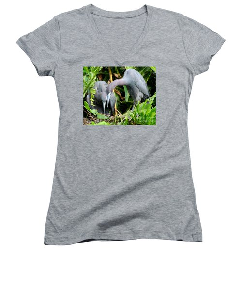 Watching The Hatching Women's V-Neck T-Shirt