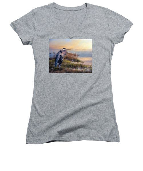 Watching The Sun Go Down Women's V-Neck (Athletic Fit)
