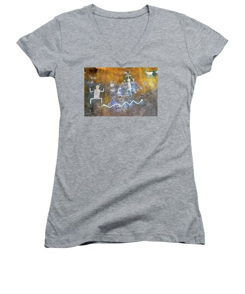 Watchtower Rock Art  Women's V-Neck T-Shirt (Junior Cut)