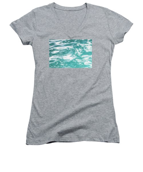 Water Abstract 001 Women's V-Neck T-Shirt (Junior Cut) by Rich Franco