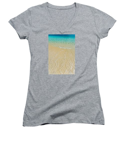 Water Abstract 1 Women's V-Neck