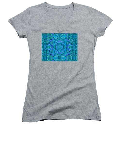 Water Art Pattern  Women's V-Neck