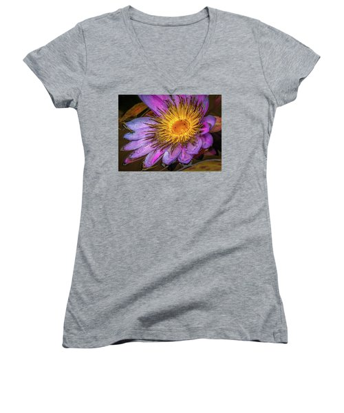Water Flower Women's V-Neck T-Shirt (Junior Cut)