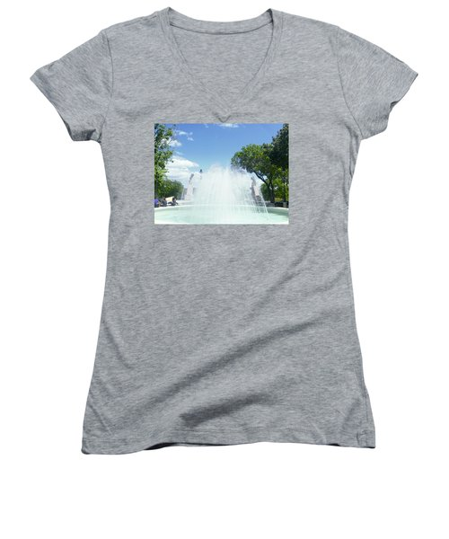 Water Fountain Ponce, Puerto Rico Women's V-Neck (Athletic Fit)