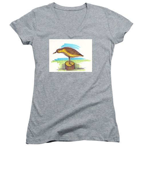Water Fowl Motif #7 Women's V-Neck